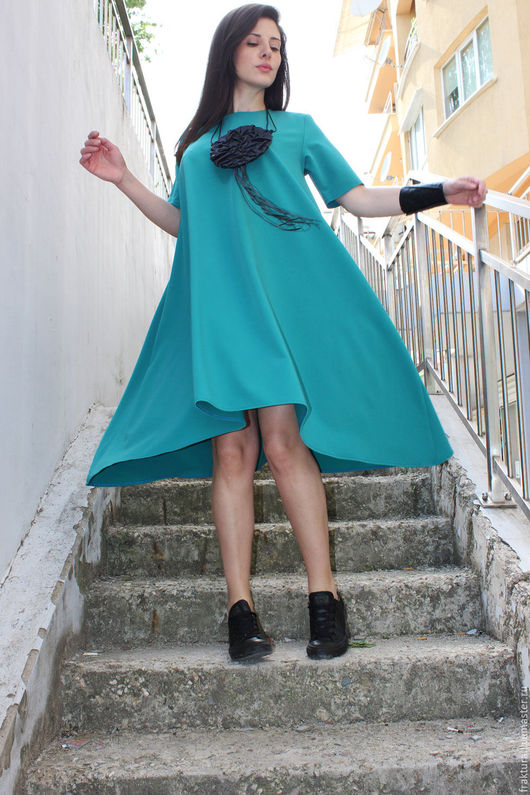 """Платья ручной работы. Ярмарка Мастеров - ручная работа. Купить Платье """"Spring Half in Green"""" D0027. Handmade. Платье"""