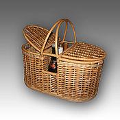 Корзины ручной работы. Ярмарка Мастеров - ручная работа Корзина плетеная для пикника из натуральной лозы. Handmade.