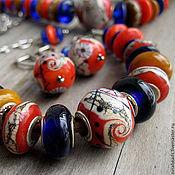 """Украшения ручной работы. Ярмарка Мастеров - ручная работа Комплект - """" Этно"""" (браслет и серьги). Handmade."""