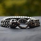 Украшения handmade. Livemaster - original item Bracelet of Steel Anchor and skull unisex. Handmade.