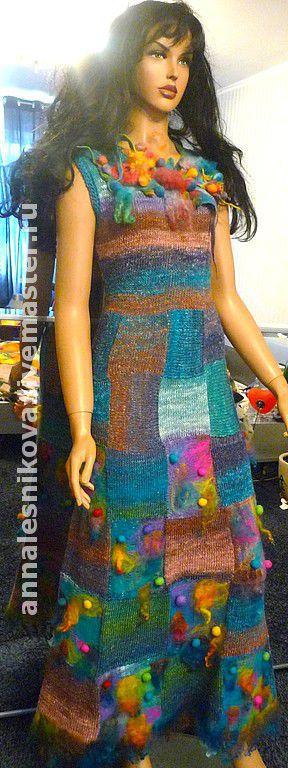 """Платья ручной работы. Ярмарка Мастеров - ручная работа. Купить Платье """" Аватар"""". Handmade. Платье вязаное"""