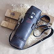Сумки и аксессуары handmade. Livemaster - original item Leather case for coffee machines, the tube of skin. Handmade.