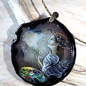 Украшения handmade. Livemaster - original item The pendant painting on the stone with the artist