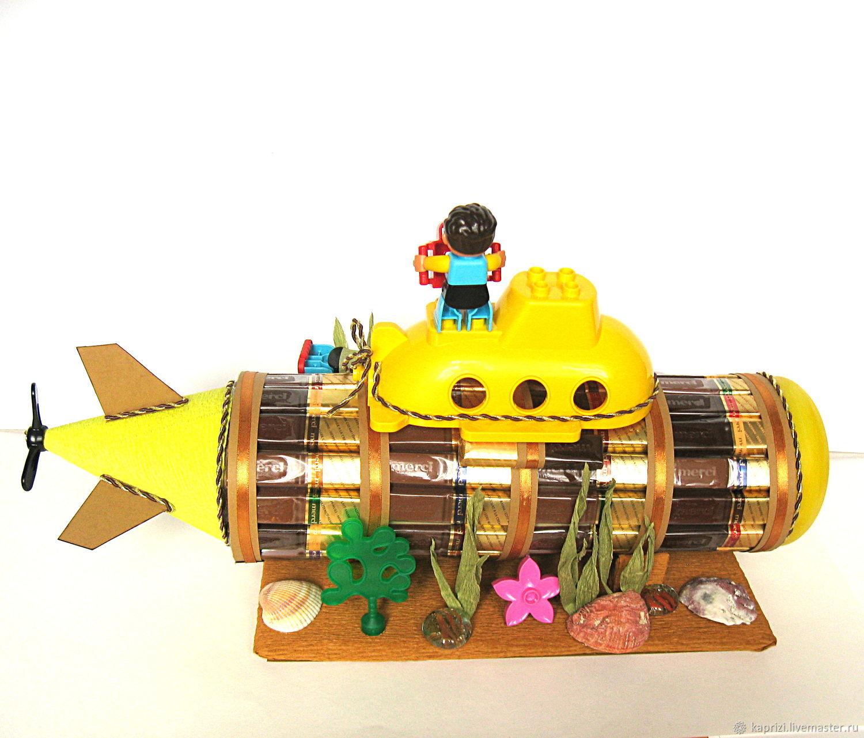 поэтому лодка из конфет фото работы