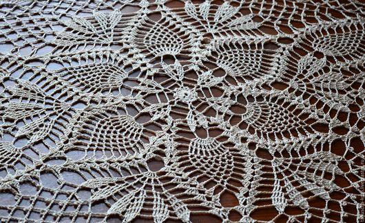 Текстиль, ковры ручной работы. Ярмарка Мастеров - ручная работа. Купить Салфетка овальная крючком. Handmade. Белый, салфетка крючком