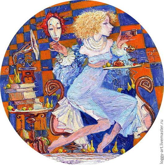 Символизм ручной работы. Ярмарка Мастеров - ручная работа. Купить принцесса на горошине или чашечка утреннего чая. Handmade. Живопись