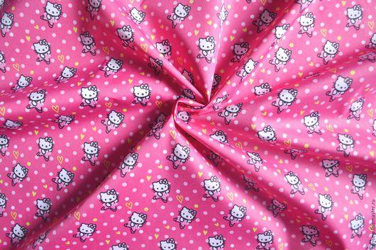 """Шитье ручной работы. Ярмарка Мастеров - ручная работа. Купить Курточная ткань Дюспо """"Китти"""", плащевка. Handmade. Розовый, Китти"""