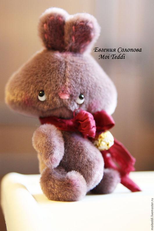 Мишки Тедди ручной работы. Ярмарка Мастеров - ручная работа. Купить зайка. Handmade. Тёмно-фиолетовый, зайчонок, друзья тедди