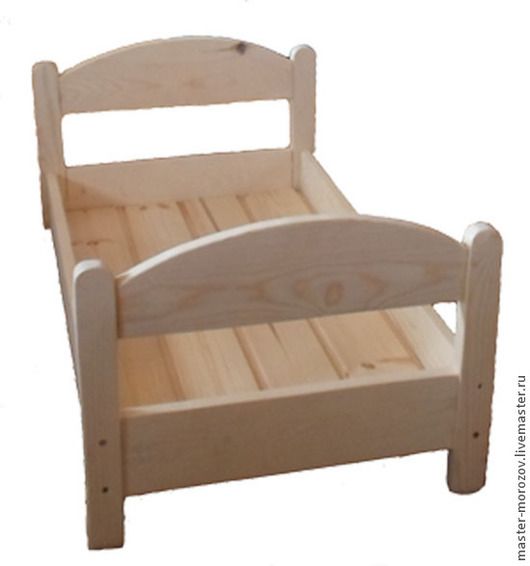Кукольный дом ручной работы. Ярмарка Мастеров - ручная работа. Купить кроватка для куклы. Handmade. Кроватка, кровать, деревянные игрушки