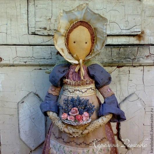Коллекционные куклы ручной работы. Ярмарка Мастеров - ручная работа. Купить Девушка и лаванда. Handmade. Бледно-сиреневый, интерьерная кукла
