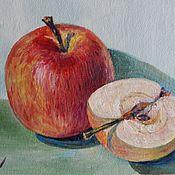 """Картины и панно ручной работы. Ярмарка Мастеров - ручная работа """"Одно с половиной"""" картина маслом. Handmade."""