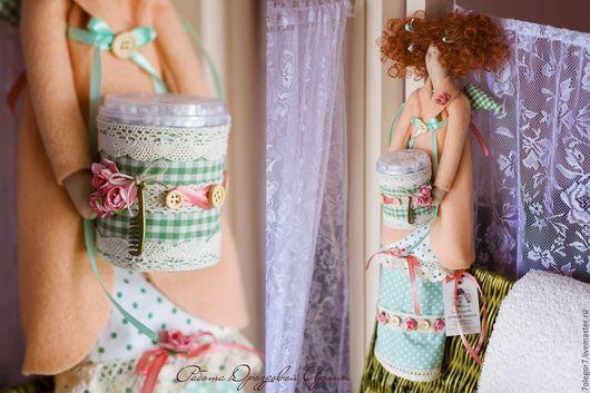 Куклы Тильды ручной работы. Ярмарка Мастеров - ручная работа. Купить Интерьерная кукла.Хранительница ватных палочек и дисков в стиле Тильда. Handmade.