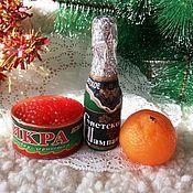 """Косметика ручной работы. Ярмарка Мастеров - ручная работа Набор мыла """"К новогоднему застолью"""" -1. Handmade."""