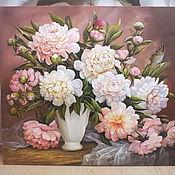"""Картины и панно ручной работы. Ярмарка Мастеров - ручная работа """" Весна. Пионы"""". Handmade."""