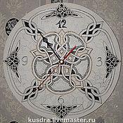 """Для дома и интерьера ручной работы. Ярмарка Мастеров - ручная работа Часы """"Со значением"""" (Кельтские орнаменты). Handmade."""
