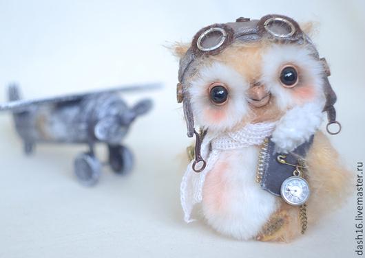 Мишки Тедди ручной работы. Ярмарка Мастеров - ручная работа. Купить Авиатор Оливер коллекционная авторская игрушка сова. Handmade.