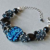 Украшения handmade. Livemaster - original item Night flight bracelet. Handmade.