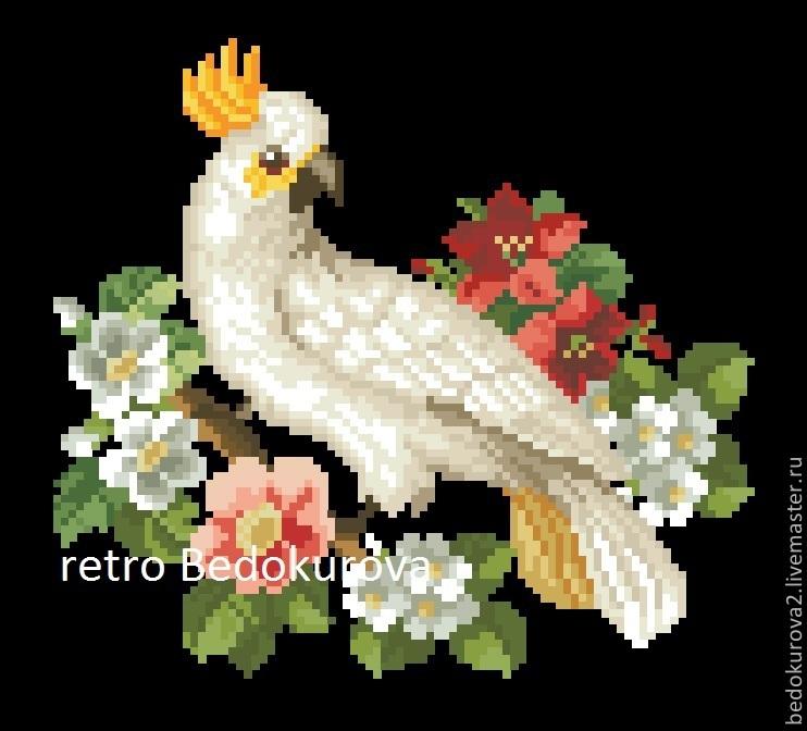 Купить РЕТРО схема Попугай 1