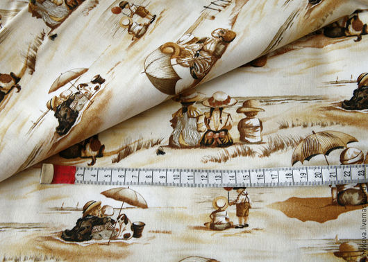 Шитье ручной работы. Ярмарка Мастеров - ручная работа. Купить Ткань для пэчворка.. Handmade. Бежевый, ткань, ткани, ткань для творчества