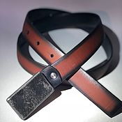 Аксессуары handmade. Livemaster - original item Leather double-sided strap. Handmade.