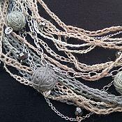 Украшения handmade. Livemaster - original item Linen necklace glomeruli in the style boho. Handmade.