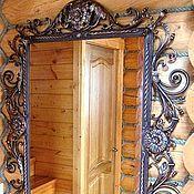 Для дома и интерьера ручной работы. Ярмарка Мастеров - ручная работа Кованное зеркало Настенное. Handmade.