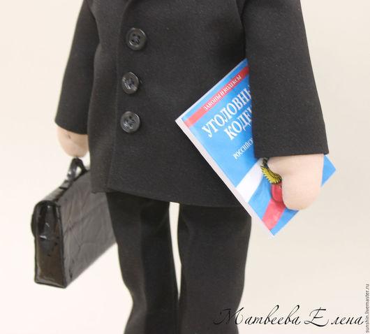 Куклы Тильды ручной работы. Ярмарка Мастеров - ручная работа. Купить Портретная кукла Адвокат.. Handmade. Черный, интерьерная кукла