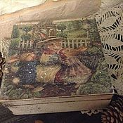 Для дома и интерьера ручной работы. Ярмарка Мастеров - ручная работа Шкатулка Чаепитие у зайки. Handmade.