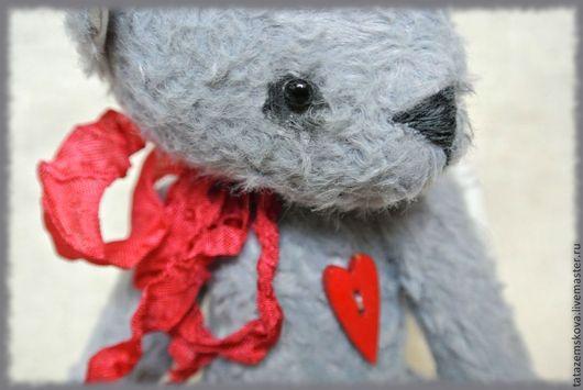 Мишки Тедди ручной работы. Ярмарка Мастеров - ручная работа. Купить Мишка Почтовый ангел (резерв). Handmade. Серый, мишутка