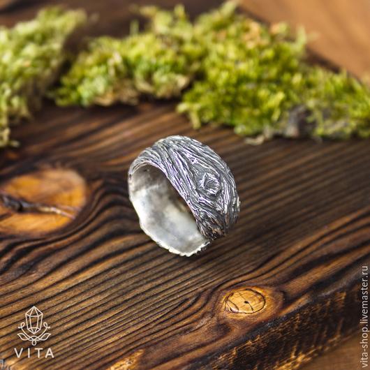 """Кольца ручной работы. Ярмарка Мастеров - ручная работа. Купить Кольцо """"Кора"""". Handmade. Серебряный, кора дерева, серебряное кольцо"""