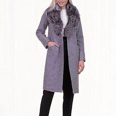 Одежда ручной работы. Ярмарка Мастеров - ручная работа Зимнее пальто теплое 47П. Handmade.