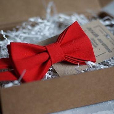 Аксессуары ручной работы. Ярмарка Мастеров - ручная работа Галстук-бабочка красная. Handmade.