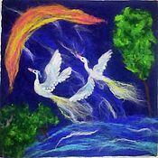 Картины и панно ручной работы. Ярмарка Мастеров - ручная работа Райские птицы на счастье. Handmade.