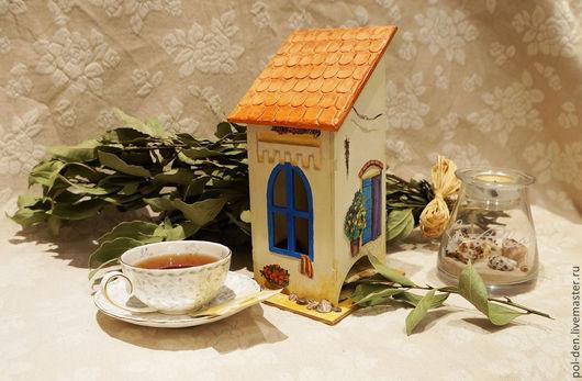 """Кухня ручной работы. Ярмарка Мастеров - ручная работа. Купить Чайный домик """"Греческое солнце"""". Handmade. Бежевый, греция, кошка"""