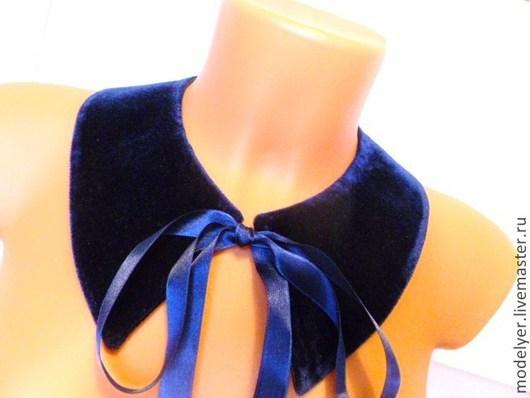 Комплекты украшений ручной работы. Ярмарка Мастеров - ручная работа. Купить Воротничок  blue. Handmade. Тёмно-синий, Аксессуары handmade
