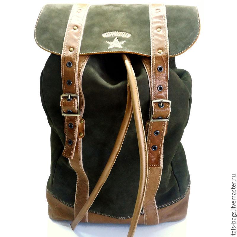 Khaki military style GOLIATH leather backpack, Backpacks, Izhevsk,  Фото №1