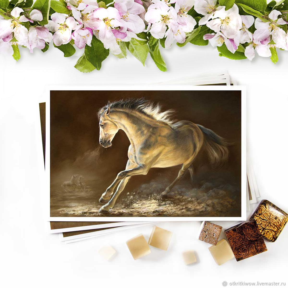 Открытка лошадь Вожак, Открытки, Йошкар-Ола,  Фото №1