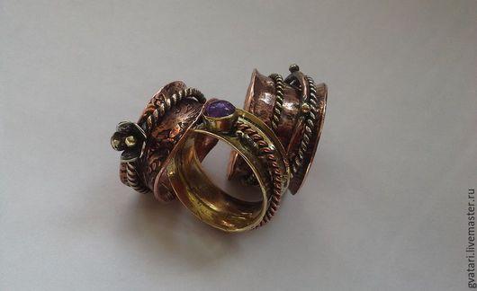 Кольца ручной работы. Ярмарка Мастеров - ручная работа. Купить Spinner ring - кольцо для кинестетиков. Handmade. Кольцо, медь, медь