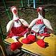 Куклы Тильды ручной работы. Ярмарка Мастеров - ручная работа. Купить Два веселых гуся. Handmade. Серый, интерьерная игрушка
