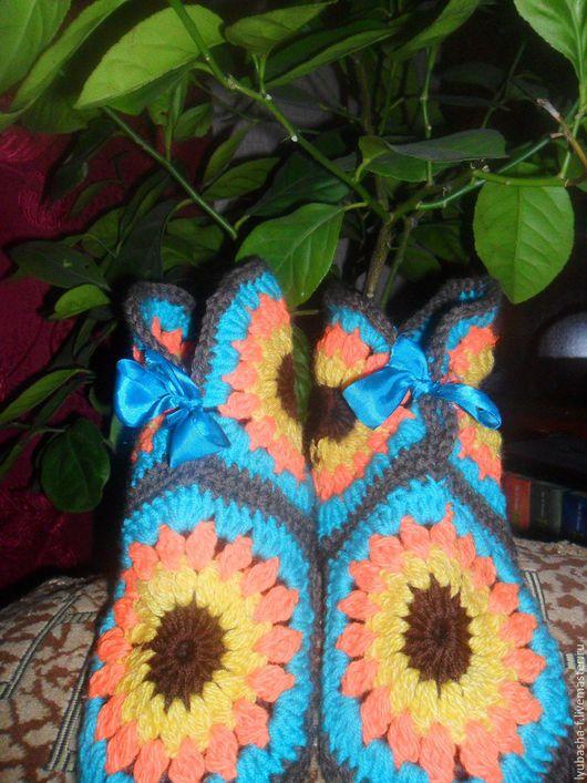 Обувь ручной работы. Ярмарка Мастеров - ручная работа. Купить домашние тапочки. Handmade. Тапочки ручной работы, тапочки из шерсти