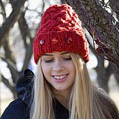 """Аксессуары ручной работы. Ярмарка Мастеров - ручная работа шапочка  """"Red"""". Handmade."""
