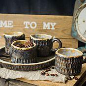 Посуда ручной работы. Ярмарка Мастеров - ручная работа Кофейный набор.. Handmade.