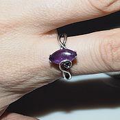 Украшения handmade. Livemaster - original item Ring with natural amethyst, silvered. Handmade.