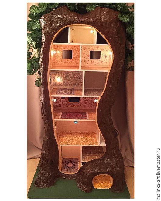 Кукольный дом ручной работы. Ярмарка Мастеров - ручная работа. Купить Кукольный домик дерево ручной работы. Handmade.