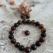 Украшения handmade. Livemaster - original item Set of stones of Tiger, Bull, Hawkeye. Handmade.