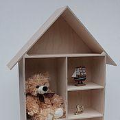 Для дома и интерьера ручной работы. Ярмарка Мастеров - ручная работа Домик- полочка для игрушек.. Handmade.