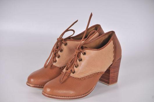 Обувь ручной работы. Ярмарка Мастеров - ручная работа. Купить Dantella. Туфли для весны и осени из натуральной кожи. (3). Handmade.