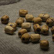 Материалы для творчества ручной работы. Ярмарка Мастеров - ручная работа деревянные бусины ручной работы. Handmade.
