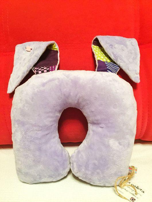 """Текстиль, ковры ручной работы. Ярмарка Мастеров - ручная работа. Купить Подушка для путешествий """"Смешные уши"""". Handmade. Подушка-игрушка"""
