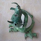 Для дома и интерьера ручной работы. Ярмарка Мастеров - ручная работа Дракоша - настенный светильник-бра. Handmade.